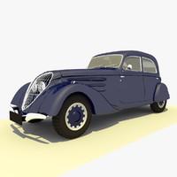 3d model classic 1939 peugeot blue