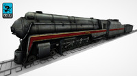3d steam locomotive lk 03 model