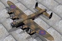bomber lancaster avro 3d max