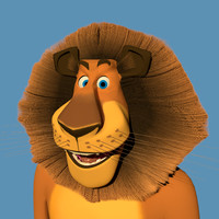 3d model lion cartoon