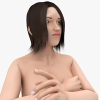 nude female rigged biped 3d model