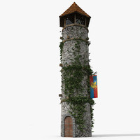 Castle Medieval Tower lighthouse house realistic cobble base old monument history classical ancient historical vintage architecture architectural base military war battle  wood log beam manor englang middle