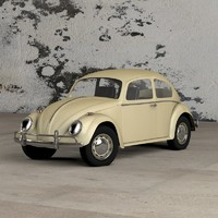 cinema4d volkswagen beetle