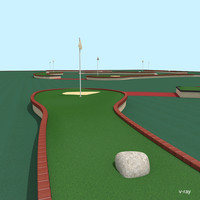 mini golf court 3d max