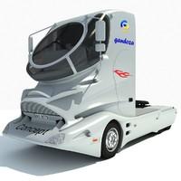 concept futuristic truck 3d lwo