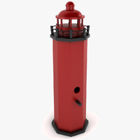 3d lighthouse birdhouse light