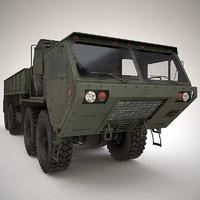 3d m985 cargo hemtt model