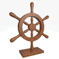 nautical wheel 3d 3ds