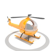 toy helicopter 3d max
