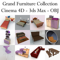 grand furniture 3d model
