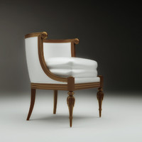 3d model classic chair