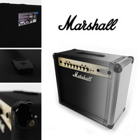 3d model guitar amplifier marshall mg30fx