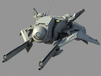 3d model future fighter