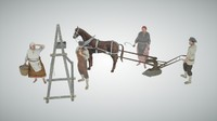 3ds max farmers russian xx century