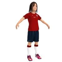 3d soccer girl