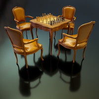3d luxurious table model