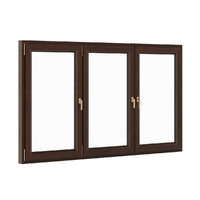 3d model openable wooden window 2570mm
