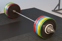 3d olympic weightlifting barbell set