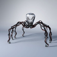 3d model mechanical robot spider