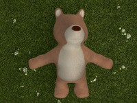 bear toy plush 3d x