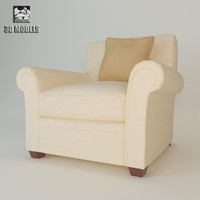 3d classic club chair model