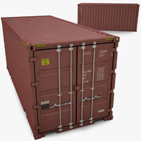3d container iso 20 model