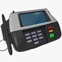 3d credit card terminal verifone model