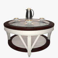 3d model glass table promenade coffee