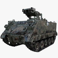 army armored vehicle m901 3d model