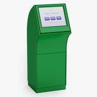 kiosk information 3d model
