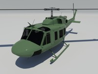 3ds max bell uh 1n helicopter