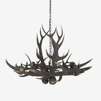 3d antler chandelier light