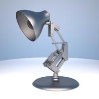 3d model table lamp luxo jr