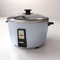3d model rice cooker