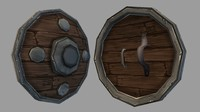 3d shield 04 medieval fantasy model