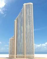 skyscraper nr 14 3d fbx