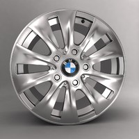 bmw car alloy logo 3d max