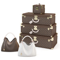 louis vuitton bag set 3d 3ds