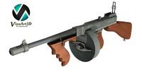 3d max tommy gun