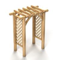 wooden trellis 3d max
