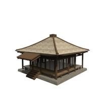 3d asian building model