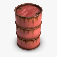 3d model red barrel