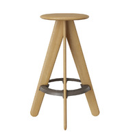 tom dixon slab bar stool 3d model