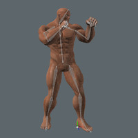 real-time dark superhero 3d fbx