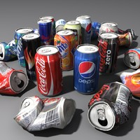3d soda cans