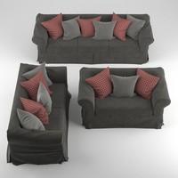 sofa realistic obj