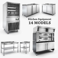 3d kitchen equipment model