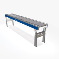 3d model live roller conveyor dc motor