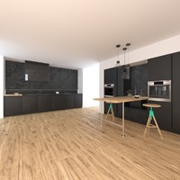 3ds max simply modern kitchen aspen