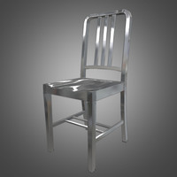 metal navy chair 3d model
